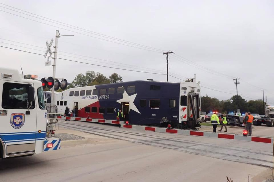 TRE train hit 18-wheeler flatbed